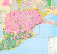 карта курорта Евпатория